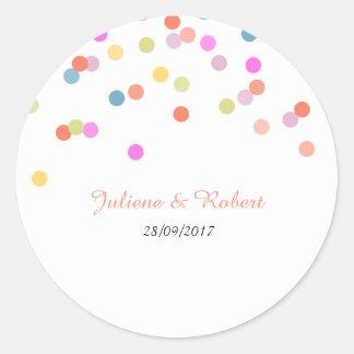 Colorful Confetti Wedding Thank You Sticker