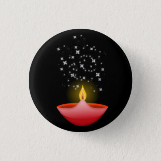 Colorful Contemporary Deepa 1 Inch Round Button