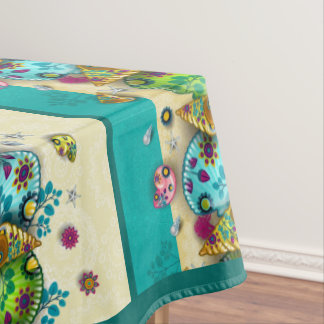 Colorful Contemporary Seashell Tablecloth