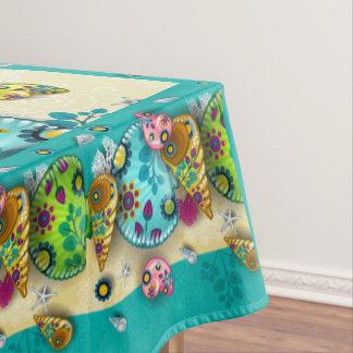 Colorful Contemporary Seashells Tablecloth