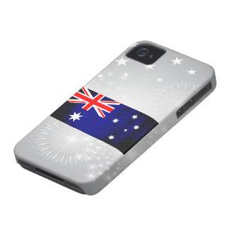 Colorful Contrast Australian Flag Case-Mate iPhone 4 Case