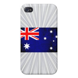 Colorful Contrast Australian Flag iPhone 4/4S Covers