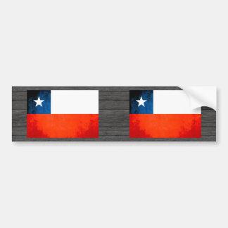 Colorful Contrast Chilean Flag Bumper Sticker
