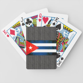Colorful Contrast Cuban Flag Bicycle Playing Cards
