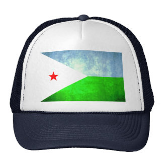 Colorful Contrast Djibouti Flag Trucker Hat