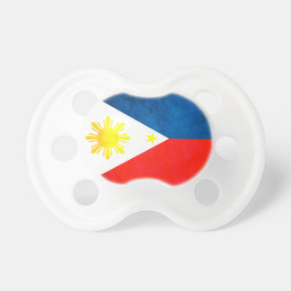 Colorful Contrast FilipinoFlag Baby Pacifiers