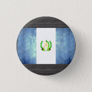 Colorful Contrast Guatemalan Flag 1 Inch Round Button