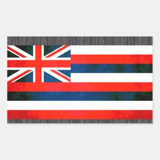 Colorful Contrast Hawaiian Flag Sticker