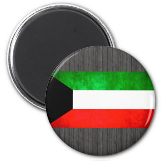Colorful Contrast Kuwaiti Flag Magnet