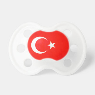 Colorful Contrast TurkishFlag Pacifier