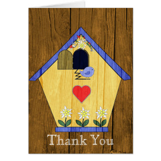 Colorful Coo Coo Bird House Thank You Card