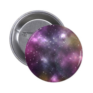 Colorful Cool Nebula and Stars in Space Pinback Buttons