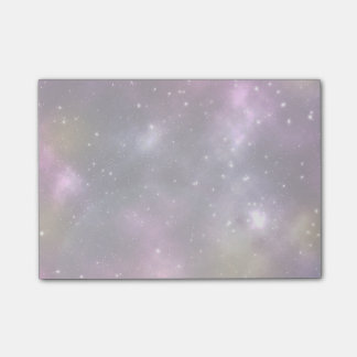 Colorful Cool Nebula and Stars in Space Sticky Note