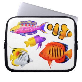 Colorful Coral Reef Aquarium Fish Electronics Bag Laptop Computer Sleeve