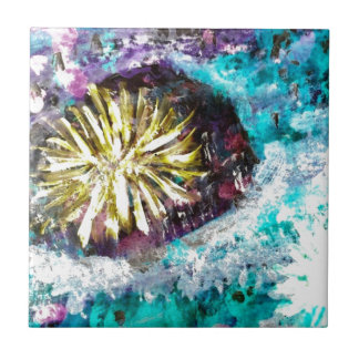 Colorful Coral Reef Sea Urchin Ceramic Tiles