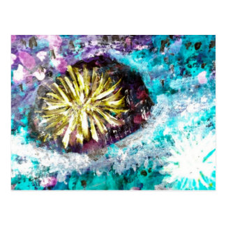 Colorful Coral Reef Sea Urchin Postcard