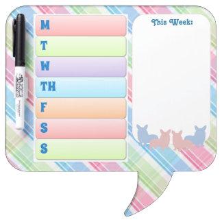Colorful Corgi Speech Bubble Dry Erase Board