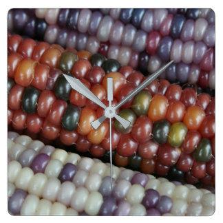 Colorful Corn Ears Clock. Wall Clocks