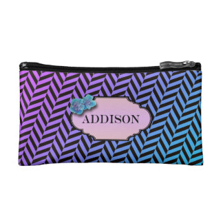 colorful cosmetic bag with monogram