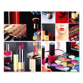 Colorful Cosmetic Collage Photo Print