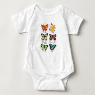Colorful Counting Butterflies One to Six Baby Bodysuit