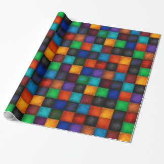 Colorful Country Checkered Patchwork Pattern Wrapping Paper