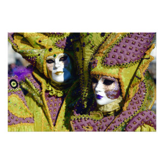 Colorful Couple at the Carnival of Venice Photo