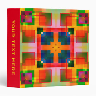Colorful Coupon or Hobby Pattern Binder