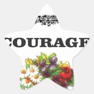 colorful courage art design star sticker