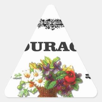 colorful courage art design triangle sticker