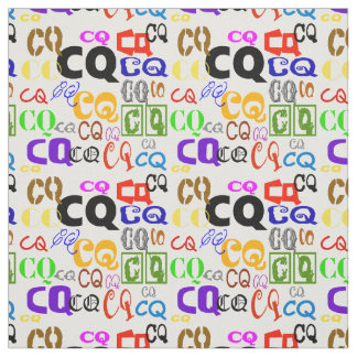 Colorful CQ Letters Ham Radio Fabric