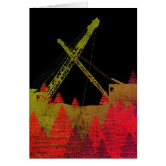 Colorful Crane Operator Operating Engineer Fantasy Card