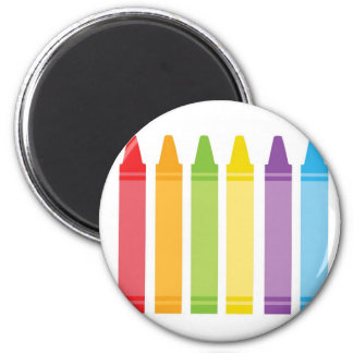 Colorful Crayons Magnet