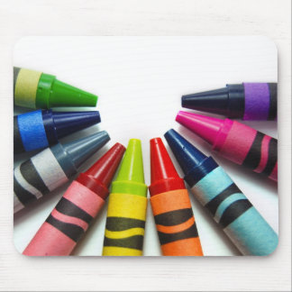 Colorful Crayons Mouse Pad