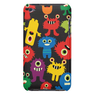 Colorful Crazy Fun Monsters Creatures Pattern Barely There iPod Covers