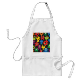 Colorful Crazy Fun Monsters Creatures Pattern Standard Apron