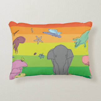 Colorful Creatures Accent Pillow