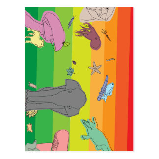 Colorful Creatures Postcard