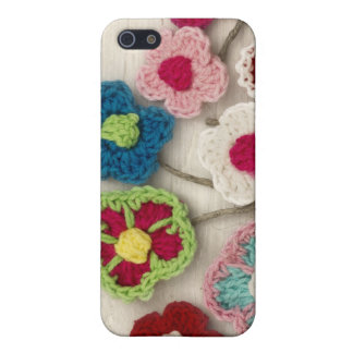 colorful crocheted flowers iPhone 5 case