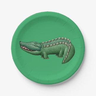 Colorful Crocodile Paper Plate