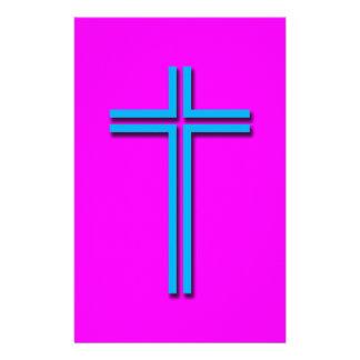 Colorful Cross Custom Stationery