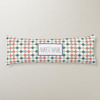 Colorful Cross Geometric Print Body Pillow