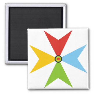 colorful cross square magnet