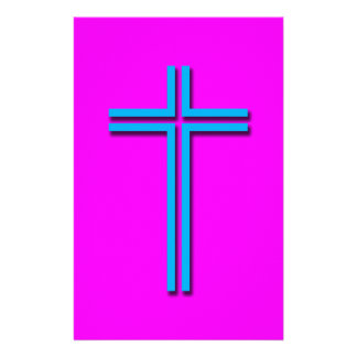 Colorful Cross Stationery