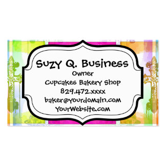 Colorful Crosses Christian Pop Art Collage Business Card