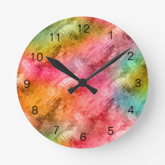 Colorful Crystal Glass Pattern Clock