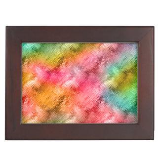 Colorful Crystal Glass Pattern Memory Box