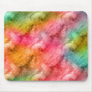 Colorful Crystal Glass Pattern Mouse Pad