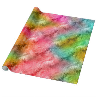 Colorful Crystal Glass Pattern Wrapping Paper