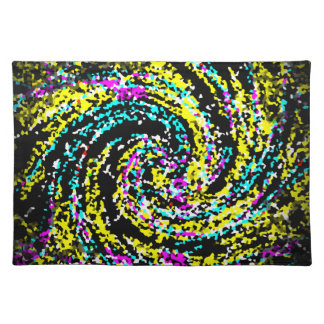 Colorful Crystallized Confetti Spiral Placemat